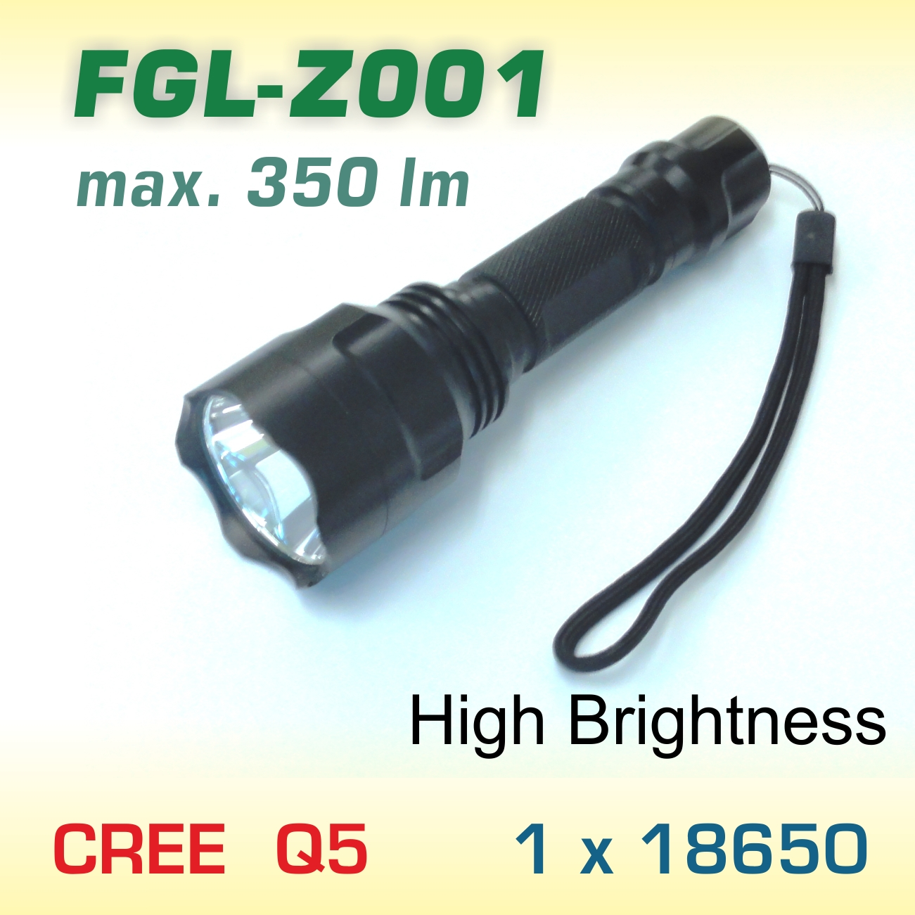 FlexGreen FGL-Z001 LED baterka Q5, 1x18650