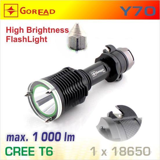 Goread Y70 LED baterka T6, 1x18650