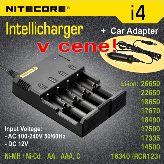Nitecore Intellicharger i4 nabíjačka 4 sloty