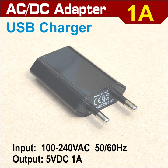 AC/DC  1A adapter - USB port