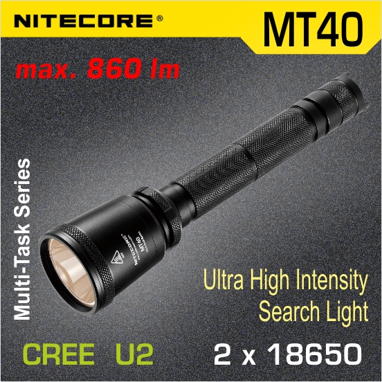 Nitecore MT40 LED baterka U2 set, 2x18650
