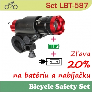 SET LBT587 LED baterka + BAT1826 + nabíjačka