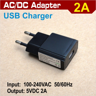 AC/DC  2A adapter - USB port